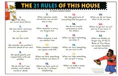 The 21 Rules Of This House by Gregg Harris - A WONDERFUL way to be consistent with biblical discipline and set healthy boundaries with children. We use this in our home and school.