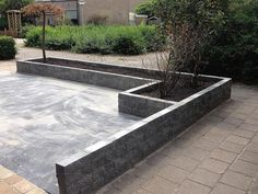 New Concrete Patio Backyard Gardens Ideas Small Backyard Design, Small Backyard Patio, Garden Design, Concrete Patios, Garden Pavers, Backyard House, Patio Layout, Modern Landscaping, Outdoor Gardens