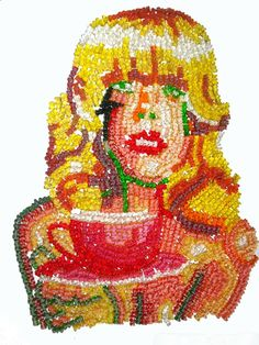 Your Portrait made of Gummi Bears by melissarachelblack on Etsy, $1750.00 Or you can just buy the bears and Rhi will do it! :D