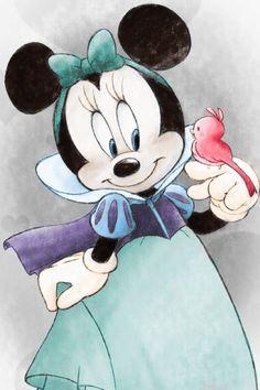 ideas for disney art mickey snow white Disney Kunst, Arte Disney, Disney Magic, Disney Mickey, Humour Disney, Disney Cartoons, Disney Fanatic, Disney Addict, Disney Artwork