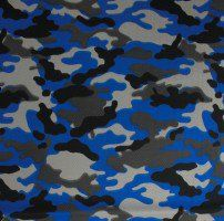 Royal Camouflage Dimple Mesh Poly Stretch Sports Knit Fabric