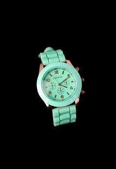 Mint Green Crystal Quartz Watch - Retro, Indie and Unique Fashion