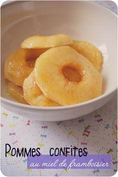 Pommes simplement confites au miel de framboisier