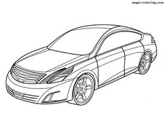 MAGICCOLORING Nissan cars coloring pages