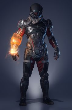 Mass Effect Andromeda - User Interface Design on Behance Mass Effect Characters, Sci Fi Characters, Robot Concept Art, Armor Concept, Fantasy Armor, Dark Fantasy Art, Nail Bat, Space Opera, John Rambo