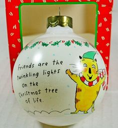 Hallmark Shoebox Friends are the Twinkle Lights of Life Cat
