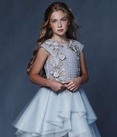 Little Girl Models, Little Girl Fashion, Girls Pageant Dresses, Little Girl Dresses, Young Fashion, Kids Fashion, Kids Frocks, Baby Gown, Little Fashionista