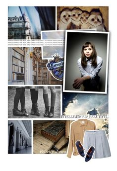 """Felicity Jones- Ravenclaw"" by geeky-ginger-girl ❤ liked on Polyvore featuring art"