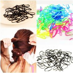 300pcs/pack Hair Bands     Tag a friend who would love this!     FREE Shipping Worldwide     Buy one here---> https://www.accessory.sg/300pcspack-rubber-rope-ponytail-holder-elastic-hair-bands-ties-braids-plaits-hair-clip-hairpins-hair-band-accessories/    #belts