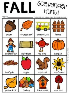 English Activities For Kids, Fall Preschool Activities, Preschool At Home, Thanksgiving Activities, Preschool Science, Special Education Classroom, Classroom Fun, Fall Words, Learning Sight Words