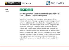 B2C Jewels Review on Trust Pilot by Ernie