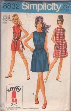 MOMSPatterns Vintage Sewing Patterns - Simplicity 8832 Vintage 70's Sewing…