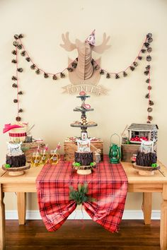 Boys Lumberjack Themed Birthday Party Dessert Table Ideas