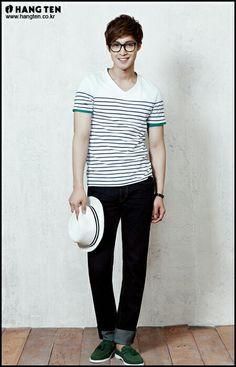 Kim Hyun Joong 김현중 ♡ wow ♡ glasses ♡ hat ♡ smile ♡ Kpop ♡ Kdrama ❤