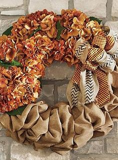 Show your autumn spirit with the Linley Harvest Wreath that fits perfectly above your mantle or on your door.