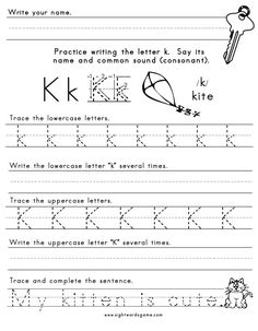 Printables K Worksheets For Kindergarten letter i worksheet 1 letters of the alphabet pinterest o k 1
