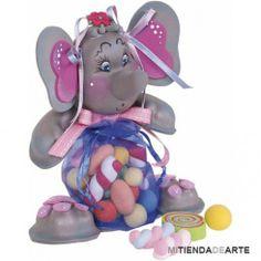Goma EVA termoformada. Elefante gris