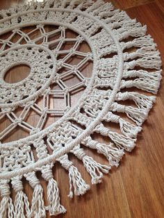 Round macrame wall hanging / wall decor / rope / fringing