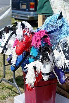 Stick horse from a bandana. Cute!