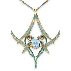An Important Rene Lalique Dragonfly Pendant (Paris)