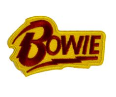 David BowieApplique Iron On Patch - Cotton / Nylon Well made, greatly embroidered and neatly stitched. Just iron on any fabric you like Turn your ordinary clot