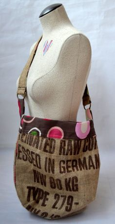 looking for a pattern for a recycled coffee burlap bag
