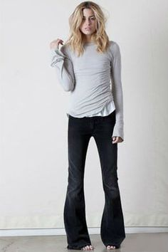 7 Ways to Wear Flare Jeans: Wear Flare Jeans With a Bell Sleeve Top