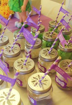 Tinkerbell Birthday Party drinks!  See more party planning ideas at CatchMyParty.com!
