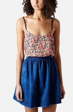 Floral Print Cage Strap Camisole