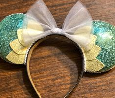 Disney Hair, Disney Fun, Tulle Bows, Princess Tiana, Pearl And Lace, Mouse Ears, Disney Outfits, The Little Mermaid, Headbands