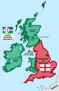 by IvanZhv on DeviantArt Alternative British Isles by matritum Map Of Britain, Great Britain, Imaginary Maps, Celtic Nations, Isle Of Harris, Fantasy Map, Alternate History, Old Maps, Flags Of The World