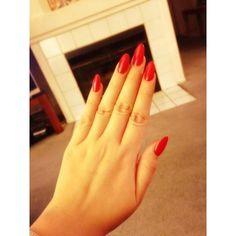 Draya red long nails | Nails | Pinterest ❤ liked on Polyvore featuring beauty products, nail care and nail