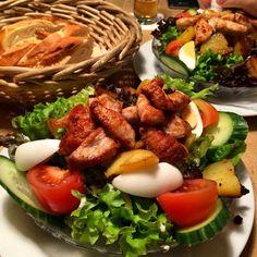 Left a foodprint at Petersberger Hof. Dish: Large Salad with Turkey Breast #foodprint