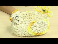 gallina porta huevos en crochet