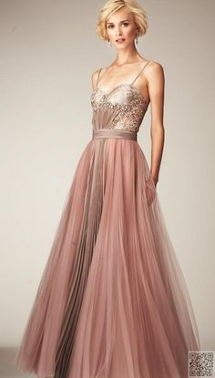 10. #Spaghetti Straps - 25 Pink Ball #Gowns for Your Next Gala ... → #Fashion #Dress