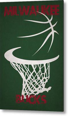 Bucks Metal Print featuring the photograph Milwaukee Bucks Hoop by Joe Hamilton