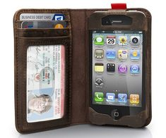 iPhone Leather Book Case