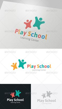 Play School Logo  #GraphicRiver         This logo design for all creative business. Consulting, Excellent logo,simple and unique concept.  Logo Template Features   AI and EPS (Illustrator 10 EPS) 300PPI  CMYK  100% Scalable Vector Files  Easy to edit color / text  Ready to print  Font information at the help file   	 If you buy and like this logo, please remember to rate it. Thanks!     Created: 31May13