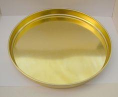 Gullfarget metallfat NOK 60