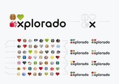 Identity for Explorado, a children's museum. The basic components of the logo – the icons of a heart, a hand and a brain – stand for the didactic concept of learning with all senses. The shape of each icon is used as a frame that can be filled with constantly new and changeable image content. The icons are also used as graphical elements which appear in a playful way in various media. Design: Kleiner und bold GmbH, Berlin