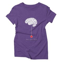 turn-your-mind womens triblend-t-shirt in tri-purple