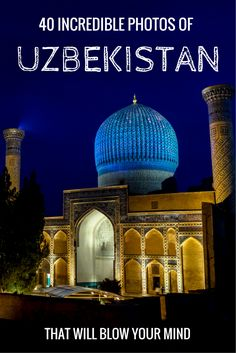 Ever wondered what Uzbekistan looks like? Well take a tour. Here is our photo essay to show you 40 incredible photos of Uzbekistan. A beautiful country in Central Asia. #centralasia #uzbekistan #photoessay