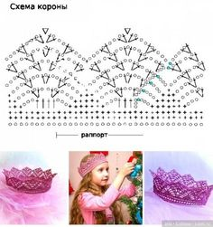 Baby Diy Crochet Crown Pattern 55 Ideas For 2019 Crochet Crown Pattern, Crochet Motif Patterns, Crochet Chart, Diy Crafts Crochet, Crochet Gifts, Hand Crochet, Crochet Projects, Crochet Hair Accessories, Baby Hats Knitting