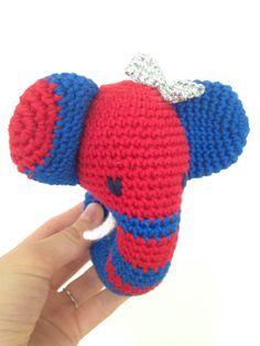 Elefant rattle for a baby girl Elefant rangle til  2015 - Johanna