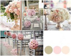 O teu casamento em cinzento, rosa e marfim