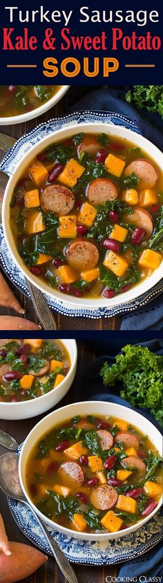 Turkey Sausage, Kale and Sweet Potato Soup - Easy and delicious fall ...