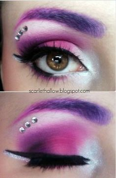 She put purple over her eyebrows - Great idea!