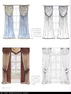 褶涧边窗帘设计图图片免费下载(编号3708826)_红动网