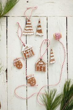 """""""gingerbread"""" ornaments"""