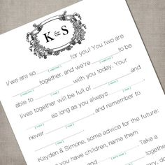 Clever idea for the young crowd who doesn't know what to say in a guest book!